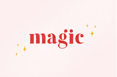 Magic - Colour SVG Font + Extras