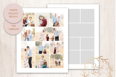 PSD Photo & Image Collage Template #3