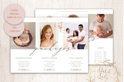 PSD Photo Price Guide Card Template #14