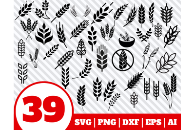 39 WHEAT SVG BUNDLE - wheat clipart - wheat vector - wheat cricut