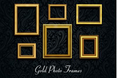 Retro Gold Photo Frames