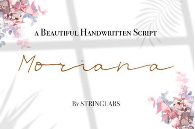 Moriana - Handwritten Script Font