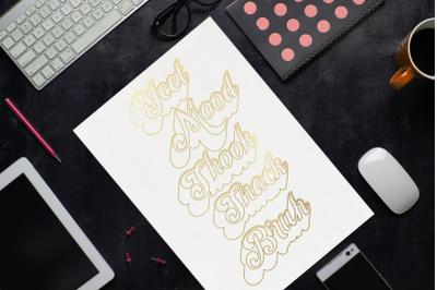 Millennial Slang Words Single Line Sketch for Pens   SVG   PNG   DXF