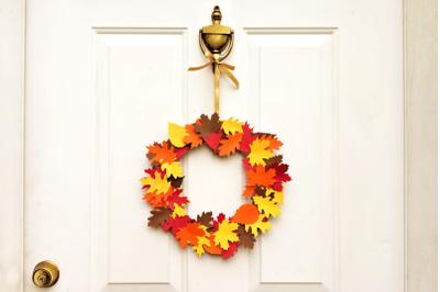 Autumn Leaf Wreath   SVG   PNG   DXF