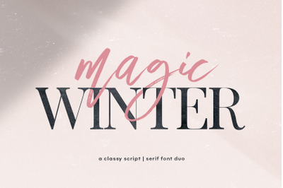 Magic Winter - Script & Serif Font Duo
