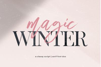 Magic Winter - Script & Serif Font Duo