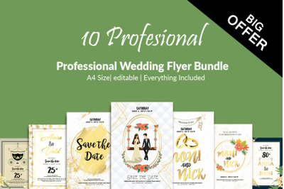 10 Save Wedding The Date Flyers Bundle