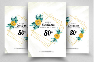 Save The Date Wedding Flyer/Poster