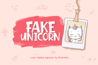 Fake Unicorn + Vector