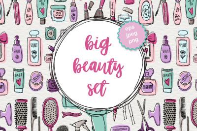 Big beauty vector set