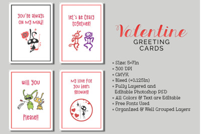 6 Valentine's Day Cards