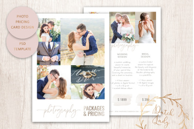 PSD Photo Price Guide Card Template #15