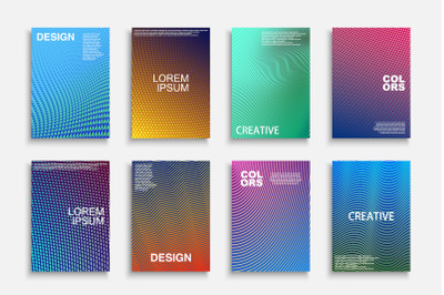 Colorful trendy geometric brochures