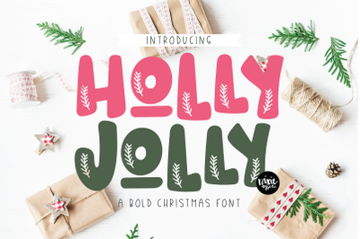 HOLLY JOLLY a Christmas Font