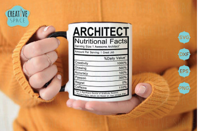 Architect Nutritional Facts SVG