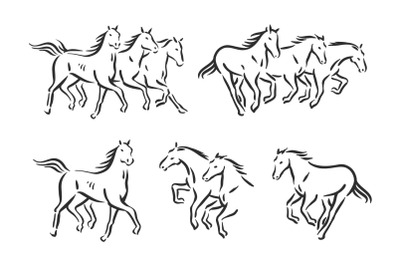 Horse symbol graphic illustration
