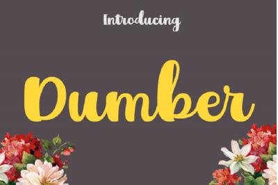 Dumber Font