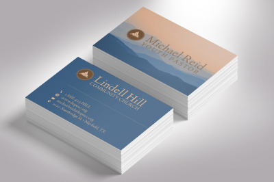 Church Business Card Photoshop