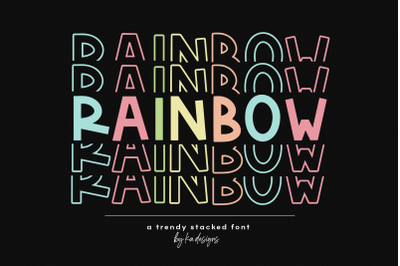 Rainbow - Fun Stacked Font