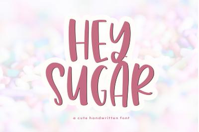 Hey Sugar - A Quirky Handwritten Font