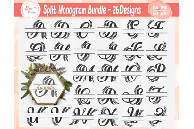 A To Z Split Letter Monograms