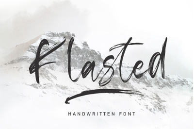Klasted Brush Handwritten Font