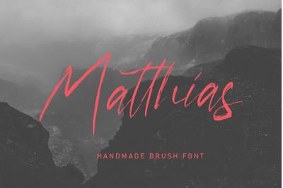 Matthias Brush Script Font