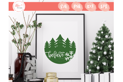 Christmas Sign - Believe SVG
