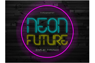 Neon Future Display Font