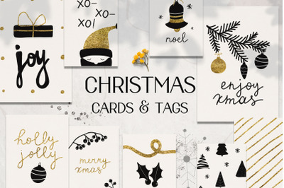 Christmas holiday cards & tags set
