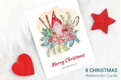 Greeting Cards Set With Christmas Tree, Catheters And Toys.