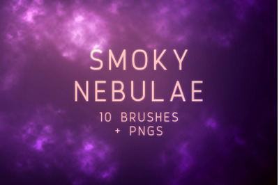 Smoky Nebulae Photoshop Brushes and PNGs