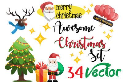 34X Christmas Illustrations