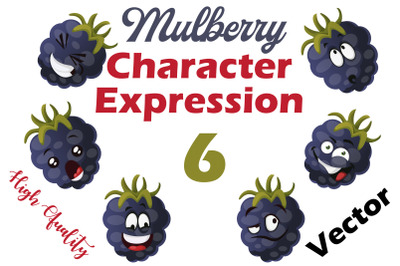 6X Mulberry Character Expression Illustrations