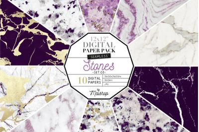 Digital Paper Pack   I   Stones Set 03