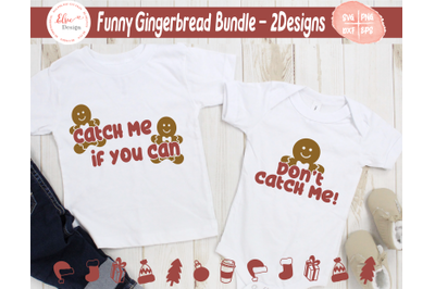Funny Gingerbread Man SVG Bundle