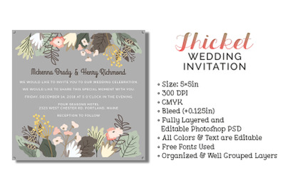 Thicket Wedding Invitation