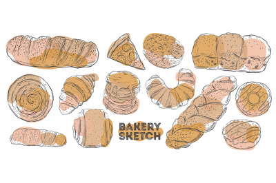 Bakery sketch set