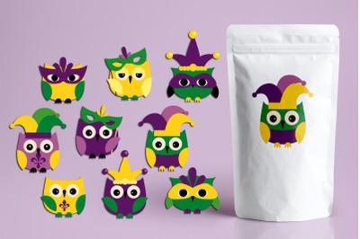 Mardi Gras Owls