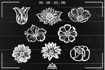 Flowers Pack Cuttable Svg Design