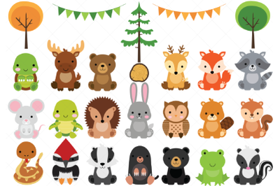Woodland Baby Animals Clipart | Forest Animal Clipart