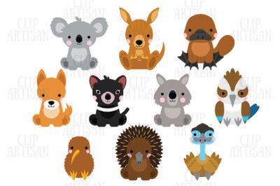 Australian Animals Clipart, Kiwi Animals