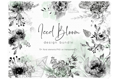 Watercolor Floral Design Bundle - Boho Flowers Clipart