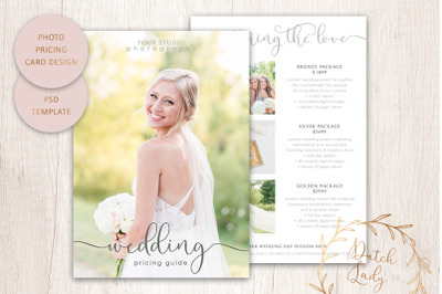 PSD Photo Price Guide Card Template #18