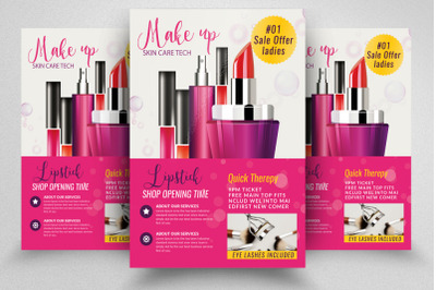 Cosmetic Product Ads Flyer Template