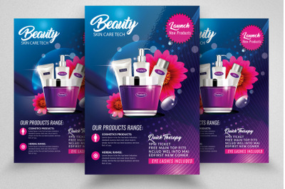 Beauty Cosmetic Flyer/Poster Template