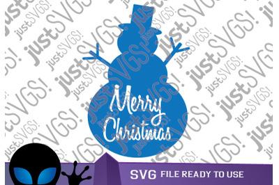 Christmas Snowman SVG