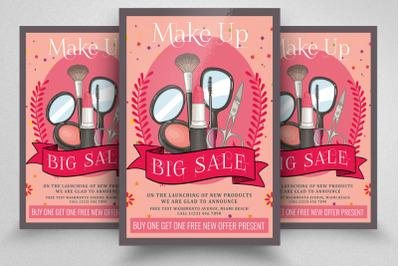 Big Sale On Beauty Cosmetics Flyer