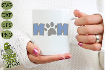 Dog Mom / Cat Mom Paw Print SVG File