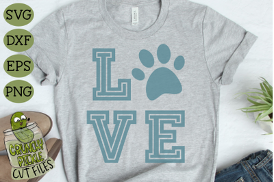 Love Cat Paw Print SVG File